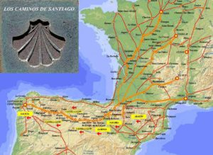 Distintos camiños de Santiago / arquivoltas.com