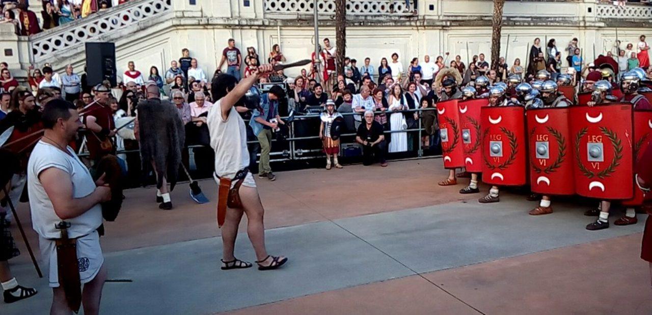 Enfrontamento entre romanos e castrexos no Arde Lvcvs