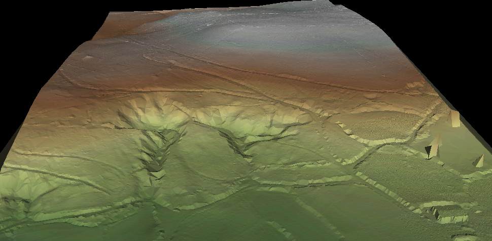 Imaxe lidar das posibles minas romanas de Grobas, en Melide / Elixio Vieites