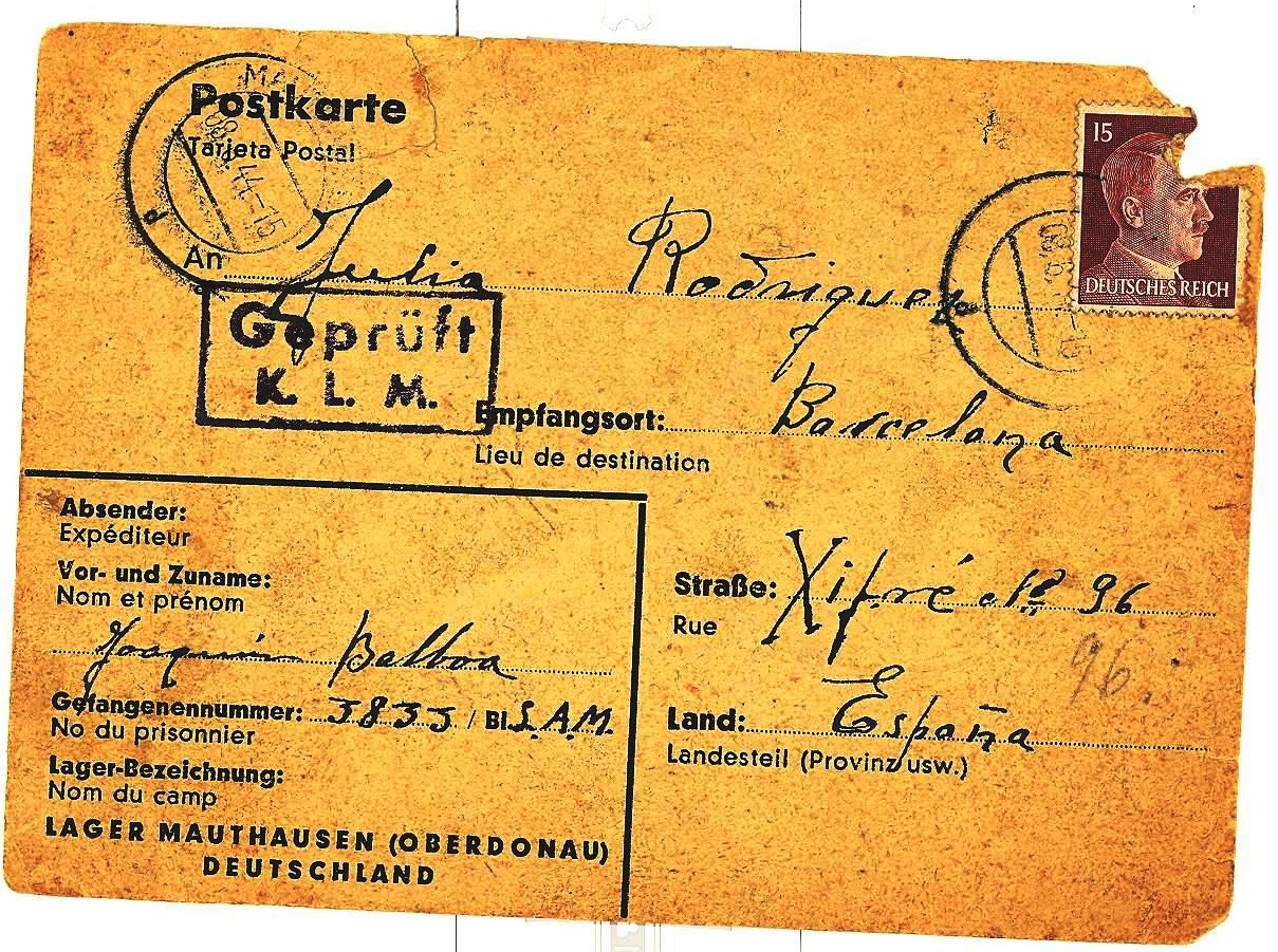 Postal co selo do dictador fascista Adolf Hitler