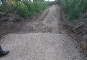 Estado no que quedan tramos do Camiño de Santiago polas obras realizadas pola Xunta / Adega