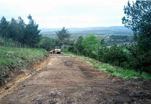 Obras realizadas por Turismo de Galicia no Camiño de Santiago que, segundo o Foro do Camiño, poñen en perigo os trazados orixinais / Adega