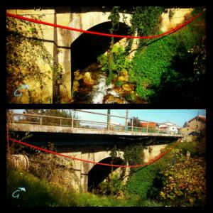 Ponte de Cans, en Porto do Son, onde tivo lugar a matanza de Nebra en 1916 / galizeando.com