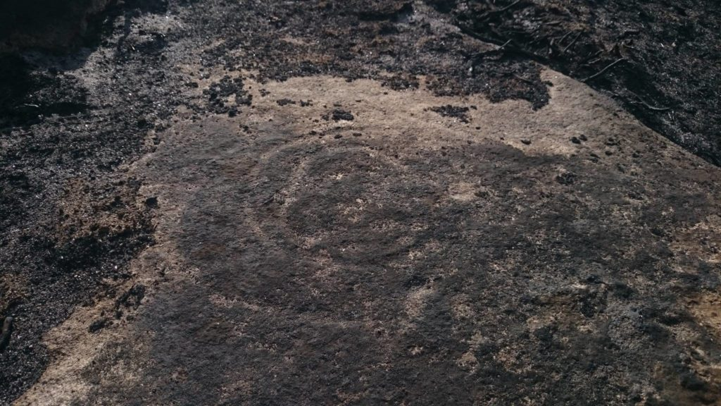 Un dos petróglifos atopados tras os lumes de Monterrei / Bruno Rúa - FB-Via XIV