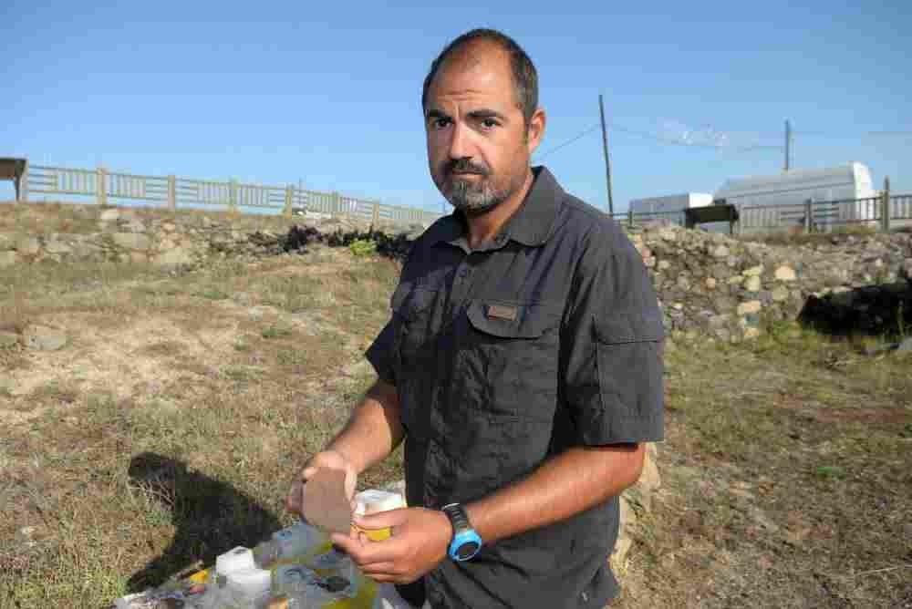 Rafa Rodríguez, arqueólogo da Deputación de Pontevedra e coordinador das escavacións da Lanzada