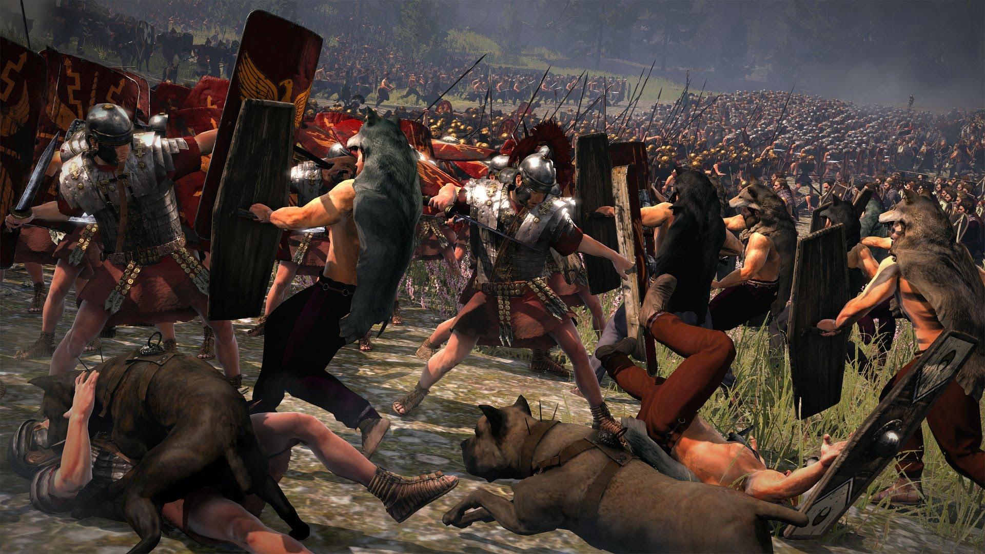 Recreación dunha batalla entre suevos e romanos / youtube