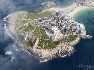 Castro da Atalaia, en Cervo, afectado por unha construción ilegal a medio facer / Umberto P. Pool - Mariña Patrimonio