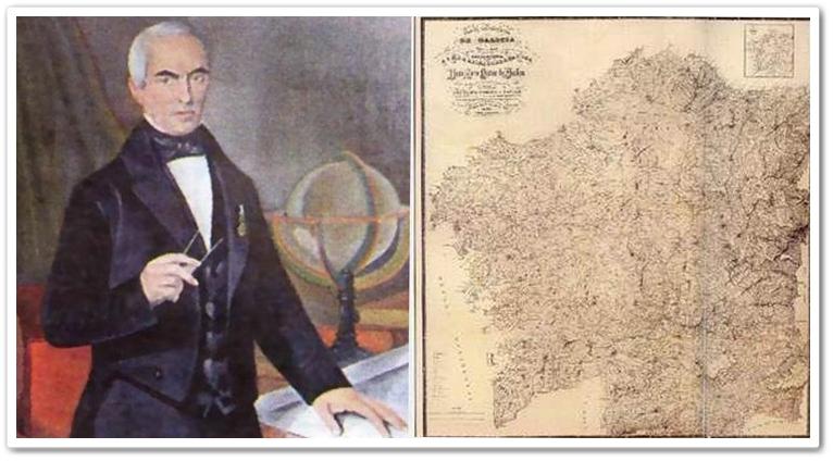 Domingo Fontán co seu mapa