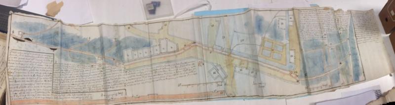 Mapa de mediados do século XVIII de Mondoñedo / USC