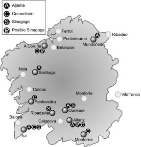 Presenza xudía en Galicia