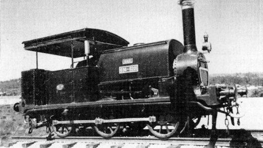 Unha das primeiras locomotoras do ferrocarril de Galicia / patrimoniovilagarcia.net