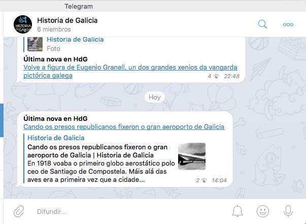 Canle en Telegram de HdG