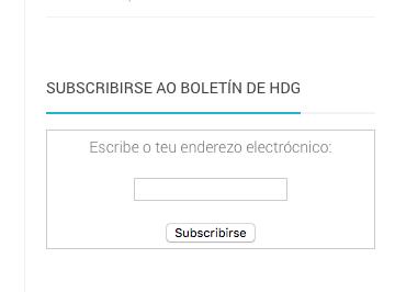 Subscrición por email