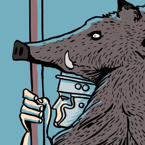 Ilustración dun portaestandarte romano / Manel Cráneo
