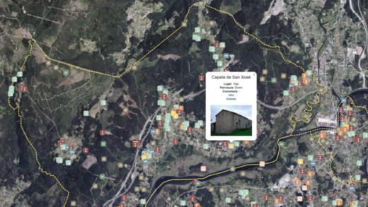 Coñece o mapa do patrimonio dos concellos do Baixo Ulla