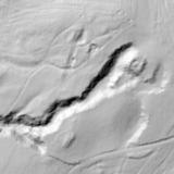 Plano Lidar do castelo e minas de Grobas, en Melide / Elixio Vieites