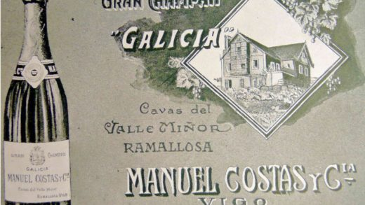 Etiquetas do champan Galicia