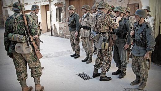 Recrean unha batalla da II Guerra Mundial en Monforte