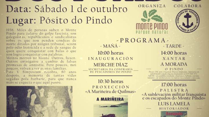 Cartaz do V simposio da Asoaciación Monte Pindo