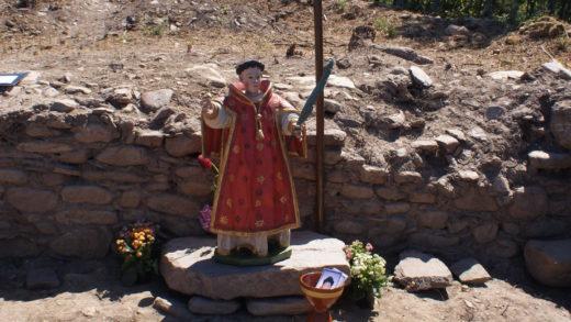 San Lourenzo, o santo patrón de Cereixa e do Castro de San Lourenzo